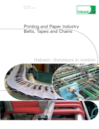 HABASIT Conveyor Belts Tapes & Chains Printing Industry Catalogue