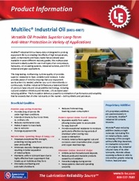 LE Lubricants Multilec Industrial Oil Brochure