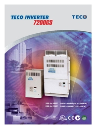 TECO Electric Motors Inverter 7200GS Series Catalogue