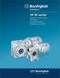 BONFIGLIOLI Worm Gearbox VF W Series Catalogue