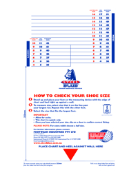 STEEL BLUE Boots Sizing Chart