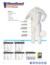KIMBERLY CLARK Personal Care Kleenguard A40 Coveralls Brochure
