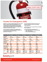 EXELGARD ABE Fire Extinguihers Brochure
