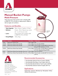 ALEMITE Grease & Oil Manual Bucket Pumps