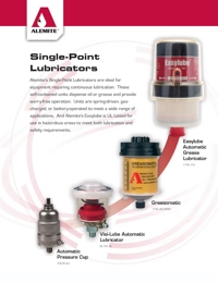 ALEMITE Lubrication Equipment Single Point Automatic Lubricators Brochure
