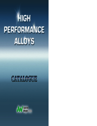 AUSTRAL WRIGHT High Performance Alloys Catalogue