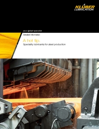 KLUBER Lubricants Steel Production Industry Catalogue