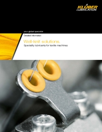 KLUBER Lubricants Textile Machines Industry Catalogue