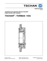 TSCHAN Couplings Tormax VSG Series Catalogue