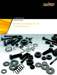 KLUBER Lubricants Bonded Coatings Catalogue