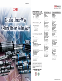 IKO Bearings C Lube Linear Series Catalogue