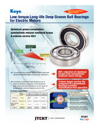 Low-torque Long-life Deep Groove Ball Bearings for Electric Motors