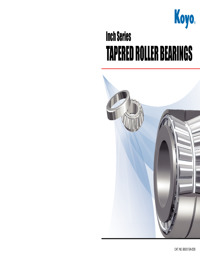 Inch Series TAPERED ROLLER BEARINGS
