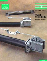 TOLOMATIC Power Transmission Cable Cylinders Catalogue