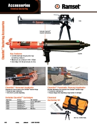RAMSET Chemical Anchor Accessories Brochure
