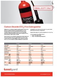 EXELGARD Co2 Fire Extinguishers Brochure