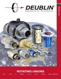 DEUBLIN Rotary Fluid Coupling Unions Catalogue