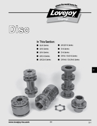 LOVEJOY Couplings Disc Series Catalogue