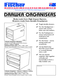 FISCHER Storage Drawer Organisers Brochure