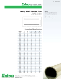 EXIMO Heavy Wall Straight Duct Catalogue