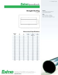 EXIMO Straight Ducting Catalogue