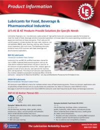 LE Lubricants Food Industry Brochure