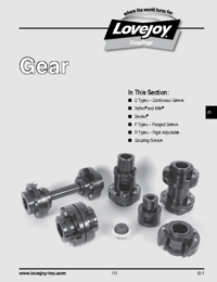 LOVEJOY Couplings Gear Series Catalogue