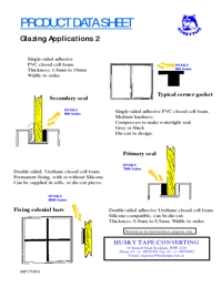 HUSKY TAPE Glazing Applications 2 Brochure