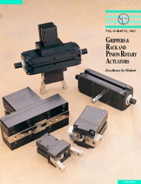 TOLOMATIC Power Transmission Grippers, Rack & Pinion Actuators Catalogue