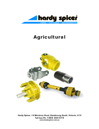 HARDY SPICER Universal Joints Agricultural Catalogue