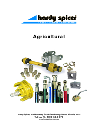 HARDY SPICER Universal Joints Agricultural & Hydraulics Catalogue