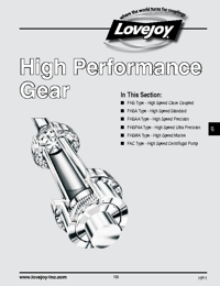 LOVEJOY Couplings High Performance Gear Series Catalogue