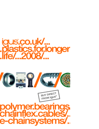 IGUS Plastic Polymer Bearings, Electric Cables & Energy Chain  Catalogue