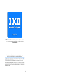 IKO Bearings Needle Rollers Catalogue