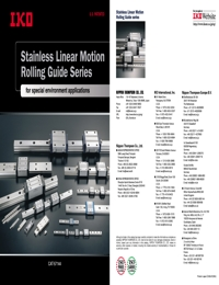 IKO Bearings Stainless Linear Brochure