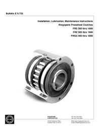 RINGSPANN Clutch Bearings Installation & Maintenance Guide