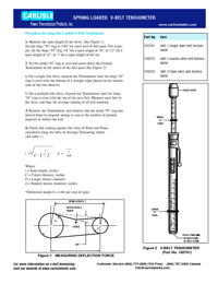 CARLISLE Power Transmission V Belt Tensioning Tool Brochure