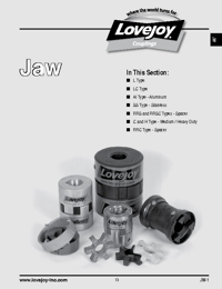 LOVEJOY Couplings Jaw Series Catalogue