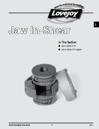 LOVEJOY Couplings Jaw In-Shear Series Catalogue