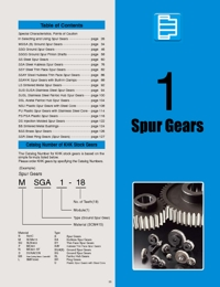KHK Gears Spur Gears Catalogue