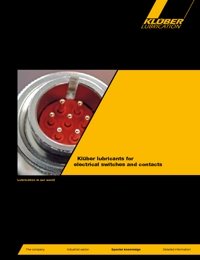 KLUBER Lubricants Electric Switches & Contacts Catalogue