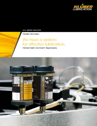 KLUBER Lubricants Lubricant Dispensers Catalogue