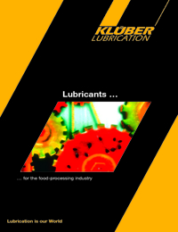 KLUBER Lubricants Food Processing Industry Catalogue 2