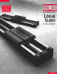 TOLOMATIC Power Transmission Linear Slides Catalogue