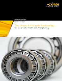 KLUBER Lubricant Bearing Lubrication Tips Catalogue