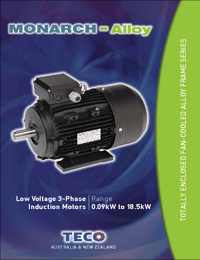 TECO Electric Motors Induction Motors Low Voltage Alloy Series Catalogue