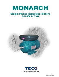 TECO Electric Motors Single Phase Induction Motors Catalogue