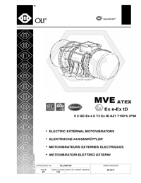 OLI Vibrators Electric External Motovibrators ATEX Series Catalogue
