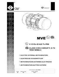 OLI Vibrators Electric External Motovibrators Catalogue