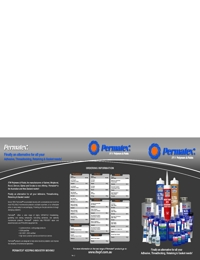 PERMATEX Adhesives & Sealants Chart